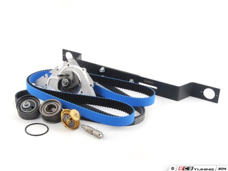 ES#2777125 - 078198671kt - Timing Belt Kit - Ultimate With Gates Racing Timing Belt & Cam Locking Tool - Complete kit to service your timing belt, water pump, and thermostat - Assembled By ECS - Audi