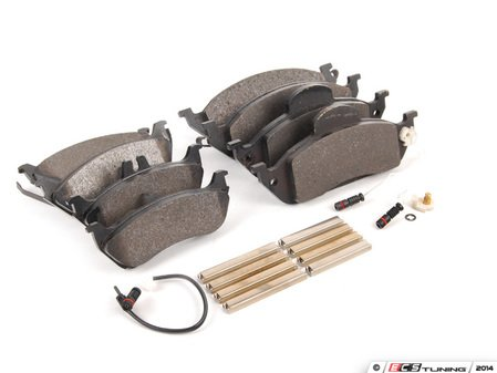 ES#2765371 - 1634201220KT6 - Front & Rear Brake Pad Kit - Featuring ATE Pads - Assembled By ECS - Mercedes Benz