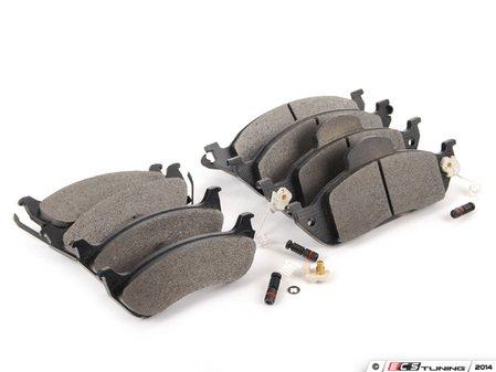 ES#2765372 - 1634201220KT7 - Front & Rear Brake Pad Kit - Featuring Meyle Pads - Assembled By ECS - Mercedes Benz