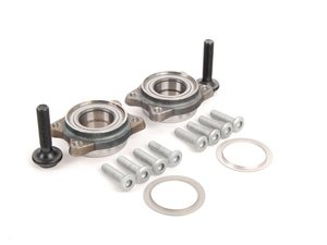 ES#2739527 - 4F0498625Bkt1 - Front Wheel Bearing Kit - Pair - Includes both front wheel bearings and installation hardware - SKF - Audi