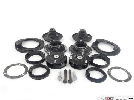 ES#2649636 - 33521094091KT1 - Cup Kit/Coilover Installation Kit - With Spring Pads - Everything you need to install coilovers, shocks/struts, or a cup kit on your BMW using high quality aftermarket components - Assembled By ECS - BMW