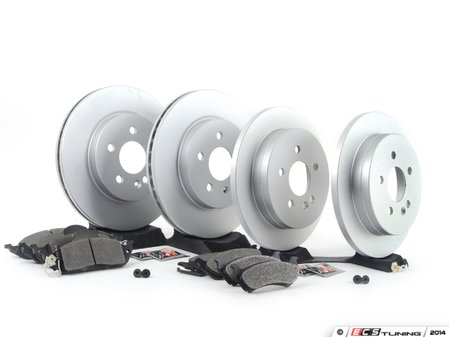 ES#2762540 - 1634230112KT12 - Front & Rear Brake Service Kit - Featuring Meyle Rotors And Pads - Assembled By ECS - Mercedes Benz