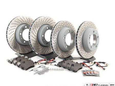 ES#2776702 - 99735193906OEKT - Front & Rear Brake Service Kit - Featuring Sebro rotors and Textar brake pads - Assembled By ECS - Porsche