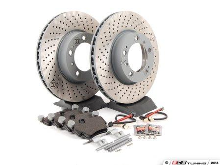 ES#2776694 - 99735193906FOEKT - Front Brake Service Kit - Featuring Sebro rotors and Textar brake pads - Assembled By ECS - Porsche