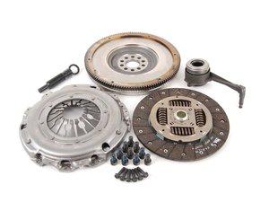 ES#2730863 - 52405616 - Clutch Kit - Single Mass Flywheel - Includes clutch disc, pressure plate, solid flywheel, throw-out bearing, & flywheel mounting hardware. - Valeo - Volkswagen