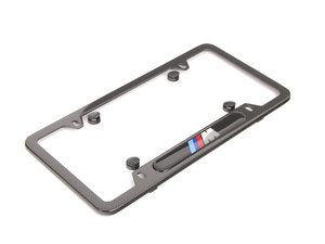 ES#2644045 - 82112348413 - ///M License Plate Frame - Carbon Fiber - ///M style for your BMW - Genuine BMW - BMW
