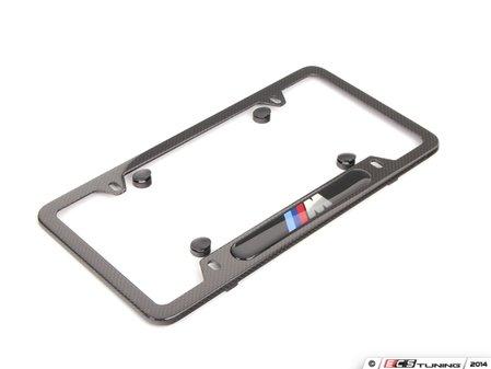 ES#2644045 - 82112348413 - ///M License Plate Frame - Carbon Fiber - ///M style for your BMW - Genuine BMW - BMW