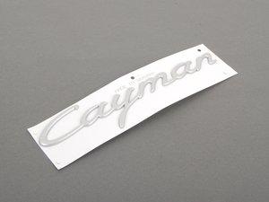 "ES#1475253 - 98755923901 - Cayman Logo - Satin Aluminum - Logo that appears on the rear deck lid on most ""S Models""  - Genuine Porsche - Porsche"