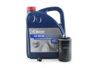 ES#3143341 - 06J115403CKT5 -  Oil Service Kit - With Magnetic Drain Plug - Includes Vaico oil, filter, and ECS magnetic drain plug - Assembled By ECS - Audi