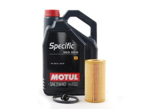 ES#2784762 - 20TPRMKTOILKT1 - Oil Service Kit - Premium - With Magnetic Drain Plug - Includes Motul Specific oil, filter, and magnetic drain plug - Assembled By ECS - Audi Volkswagen