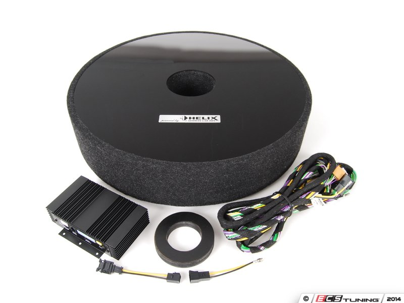 vw oem helix accessory subwoofer in spare wheel well. Black Bedroom Furniture Sets. Home Design Ideas