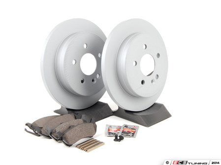 ES#2762551 - 1634200420KT2 - Rear Brake Service Kit - Featuring ATE Rotors And Pads - Assembled By ECS - Mercedes Benz