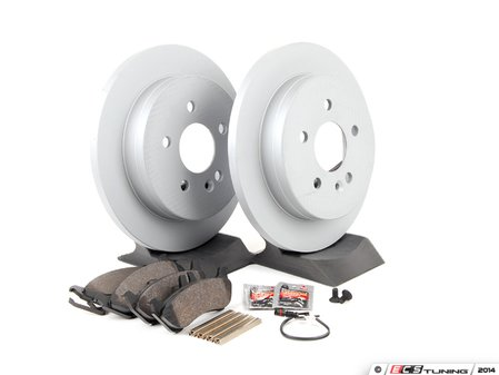 ES#2762554 - 1634201420KT2 - Rear Brake Service Kit - Featuring ATE Rotors And Pads - Assembled By ECS - Mercedes Benz