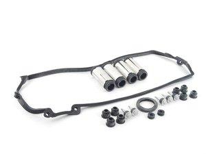 ES#2765666 - 11127513194KT -    Valve Cover Gasket kit - For Cylinders 1-4 includes spark plug tubes - Assembled By ECS - BMW
