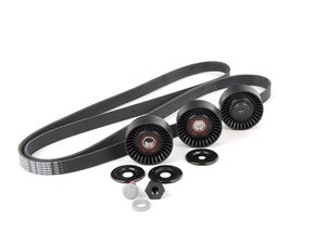 ES#2784709 - 99610215166KT - Serpentine Belt Kit - Accessory belt with rollers - Genuine Porsche - Porsche
