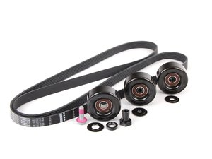 ES#2784712 - 99610215166KT2 - Serpentine Belt Kit - Accessory belt with rollers - Genuine Porsche - Porsche