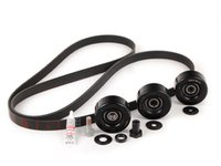 ES#3614104 - 99610215166KT4 - Serpentine Belt Kit - Accessory belt with rollers - Featuring new wear indicator Optibelt! - Optibelt - Porsche