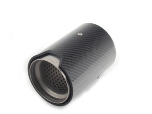 ES#2784356 - 18302358110 - Carbon Fiber M Performance Exhaust Tips - priced each  - Add the finishing touches to your M performance exhaust - Genuine BMW M Performance - BMW