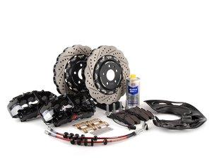 ES#2739809 - 8T0615108KT2 -  Front Big Brake Kit - Stage 3 - 2-Piece Wave Rotors (365x34) - Featuring RS5 8-piston calipers, ECS stainless steel lines, ECS 2-piece Tru-Float wave rotors & Hawk HPS pads - ECS - Audi