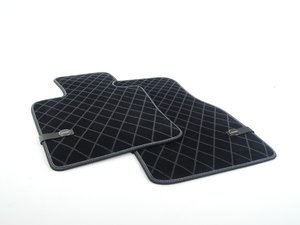ES#2721053 - 51472354168 - Essentials Front Carpet Factory Floor Mats Set Black - Priced As Set  - Replace or upgrade to factory MINI mats - Genuine MINI - MINI