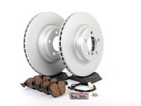 ES#2781280 - 34116750267KT3 - Front Brake Service Kit - Featuring Meyle coated rotors and Akebono pads - Assembled By ECS - BMW