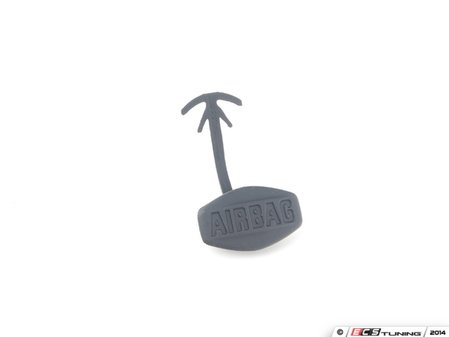 """ES#99365 - 51417066500 - Side Airbag Trim Cover - Black - Snaps in place, """"AIRBAG"""" inscription - Genuine BMW - BMW"""