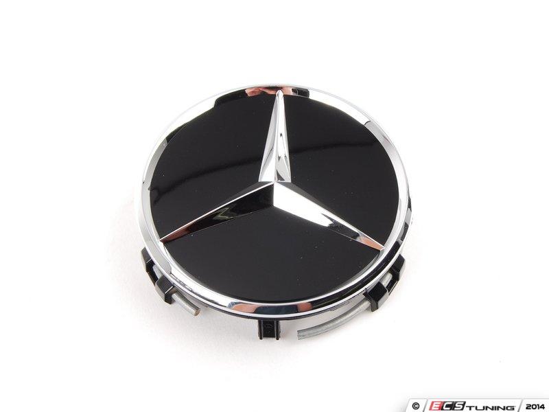 Genuine mercedes benz 66470200kt center cap set of four for Mercedes benz black center caps