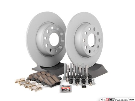 ES#2597891 - 1K0615601AA - Rear Brake Service Kit (272x10) - Featuring Zimmermann rotors and Textar pads. - Assembled By ECS - Volkswagen