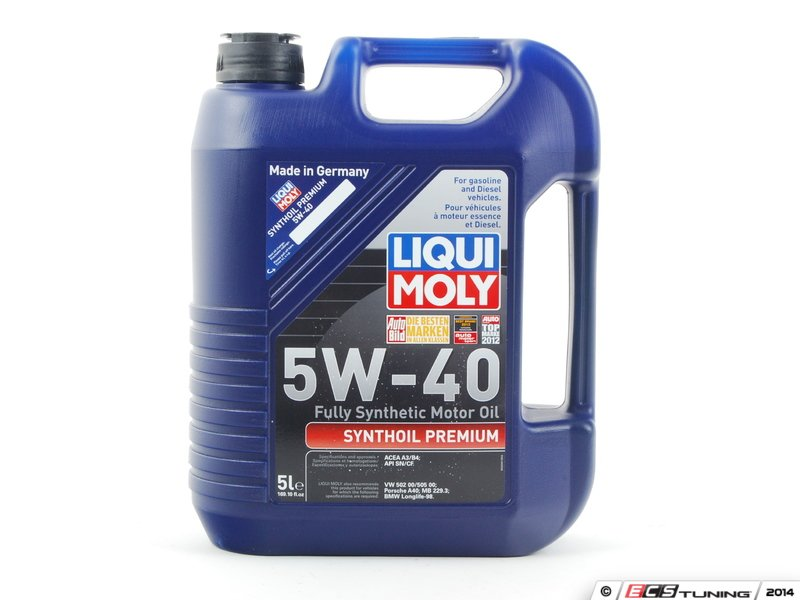 liqui moly 2041 synthoil premium engine oil 5w 40. Black Bedroom Furniture Sets. Home Design Ideas