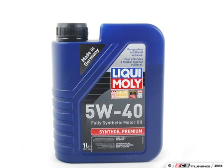 ES#258724 - 2040 - Synthoil Premium Engine Oil (5w-40) - 1 Liter - A fully synthetic oil specifically designed around the unique needs and long drain intervals of European engines - Liqui-Moly - Audi BMW Volkswagen