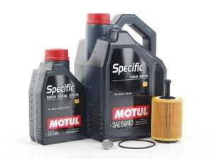 ES#1885288 - MK4VR624VPRKT -  Oil Service Kit - Includes Mann oil filter and Motul Specific 5w-40 oil - Assembled By ECS - Audi Volkswagen
