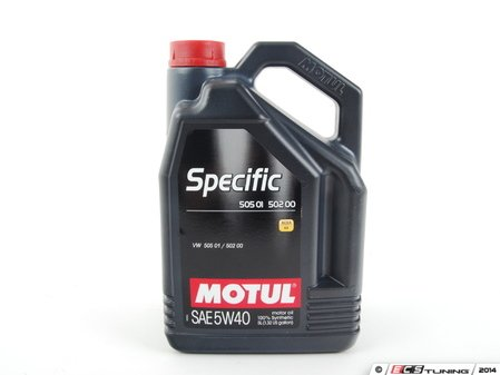 ES#261372 - 842451 - Specific 505.01 / 502.00 Engine Oil (5w-40) - 5 Liter - 100% Synthetic engine oil designed around your Volkswagen & Audi engine. This oil is designed to handle the long oil change intervals recommended in your owners manual. - Motul - Audi Volkswagen