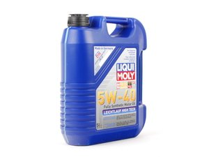 ES#2785255 - 2332 - Leichtlauf High Tech Engine Oil (5w-40) - 5 Liter - Ideally suited for modern gasoline and diesel engines with multi-valve and turbocharging technology - Liqui-Moly - Audi BMW Volkswagen Mercedes Benz MINI Porsche