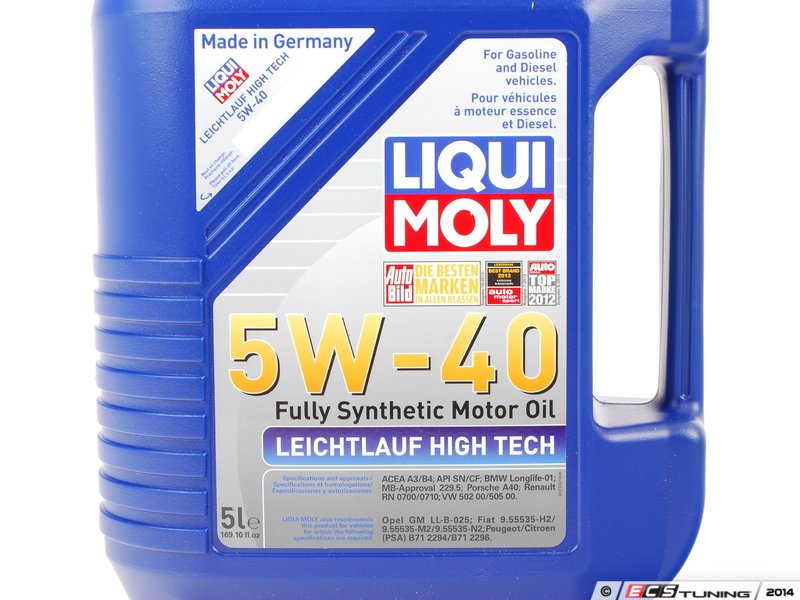 liqui moly 2332 leichtlauf high tech engine oil 5w 40. Black Bedroom Furniture Sets. Home Design Ideas