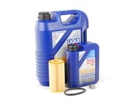 ES#2784970 - MK525OILKT -  Oil Service Kit - Includes Liqui Moly oil, Mann filter, and standard drain plug - Assembled By ECS - Volkswagen