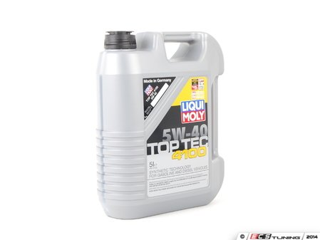 ES#2785335 - 2330 - Top Tec 4100 (5w-40) - 5 Liter - Designed for engines with multi-valve technology and turbochargers - Liqui-Moly - BMW Volkswagen Porsche