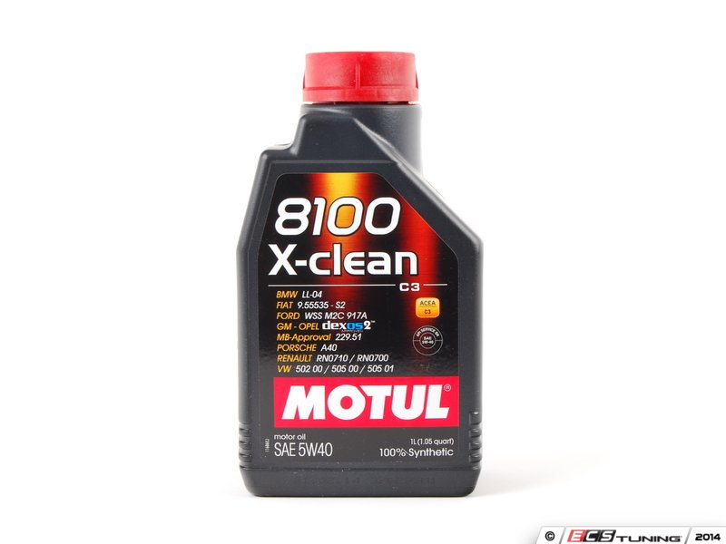 motul 841611 8100 x clean c3 engine oil 5w 40 1 liter