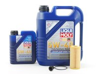 ES#2785314 - 06L115562KT8 -  Oil Service Kit - Includes Genuine oil filter and Liqui Moly 5w-40 oil - Assembled By ECS - Audi Volkswagen