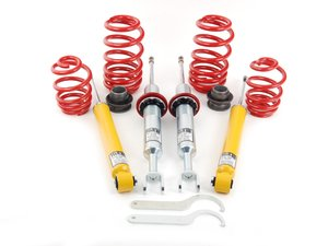 """ES#2762931 - 29250-4 - Street Performance Coilover Kit - Unrivaled comfort and performance. Average lowering of 1.2""""-2.1""""F 1.0""""-2.0""""R - H&R - Audi"""