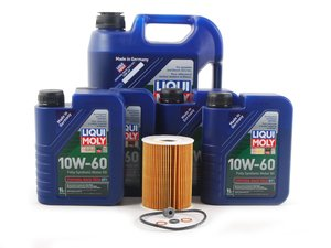 ES#2785452 - m56svckt3KT -  Synthoil Race Tech GT1 Oil Change Kit / Inspection I - Everything needed for a basic oil service including Liqui Moly Race Tech GT1 10w-60 Engine Oil - Assembled By ECS - BMW