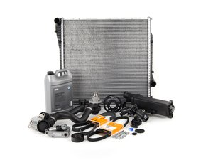 ES#2739568 - ECSE531711-10 - ECS Cooling System Refresh Kit - Level 3 - The ultimate cooling refresh kit - with aftermarket components, featuring an ECS Aluminum Pulley and a GEBA water pump - Assembled By ECS - BMW