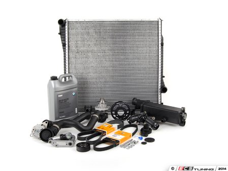 ES#2739571 - ECSE531711-13 - ECS Cooling System Refresh Kit - Level 3 - The ultimate cooling refresh kit - with aftermarket components, featuring an ECS Aluminum Pulley and a GEBA water pump - Assembled By ECS - BMW