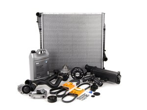 ES#2739570 - ECSE531711-12 - ECS Cooling System Refresh Kit - Level 3 - The ultimate cooling refresh kit - with aftermarket components, featuring an ECS Aluminum Pulley and a GEBA water pump - Assembled By ECS - BMW