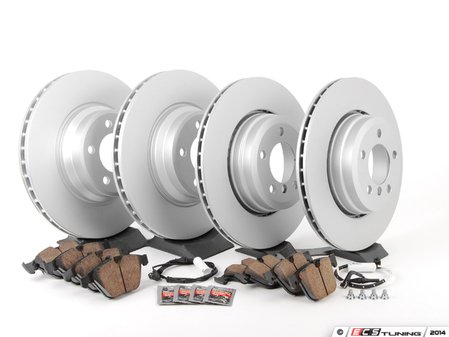 ES#2781274 - 34116750267KT1 - Front And Rear Brake Service Kit - Featuring Meyle coated rotors and Akebono pads - Assembled By ECS - BMW