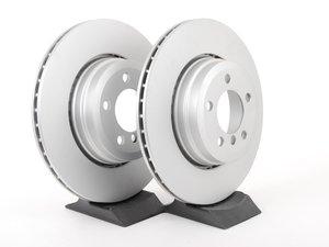 ES#2781277 - 34216765889KT - Rear Brake Rotors - Pair (345x24) - Featuring a protective Meyle Platinum coating. - Meyle - BMW