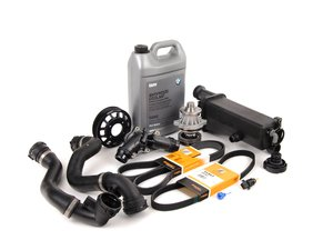 ES#2158109 - ECSE531711-8 - ECS Cooling System Refresh Kit - Level 2 - Stop your cooling problems before they start - includes an ECS Aluminum water pump pulley and featuring a GEBA water pump with a metal impeller - Assembled By ECS - BMW
