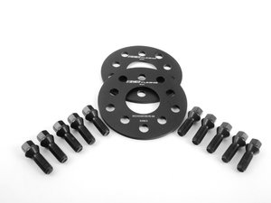 ES#2748186 - ECS10610KTWBC1 - ECS Wheel Spacer & Bolt Kit - 6mm With Black Conical Seat Bolts - Includes everything you need to install spacers on two wheels - ECS - Audi Volkswagen
