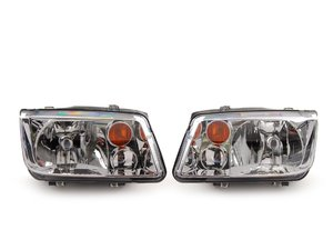 ES#2562275 - 1J5941017BJKT -  Headlights - Pair - Without fog lights, with amber turn signal lenses - TYC - Volkswagen