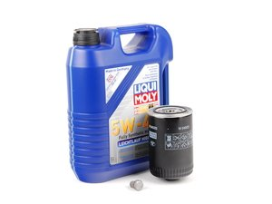 ES#2784856 - PLSOILKT1 -  Oil Service Kit - Includes large Mann oil filter and Liqui Moly 5w-40 oil - Assembled By ECS - Volkswagen