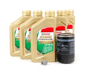ES#2784868 - 18TOEMOIL1KT -  Genuine Oil Service Kit - Includes standard Genuine oil filter and Genuine 5w-40 oil - Genuine Volkswagen Audi - Volkswagen